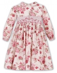 Rose Pink Smocked Ivory Dress