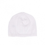 Boy's White Sweater Cap