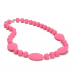 Punchy Pink Perry Teething Necklace