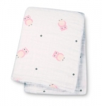 Owl Always Love You Pink Muslin Cotton Swaddling Blanket