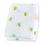 Bumbling Bee Muslin Cotton Swaddling Blanket