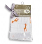 Giraffes Muslin Cotton Security Blankets