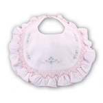 Pink Embroidered Bib