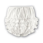 White Ruffled Panties