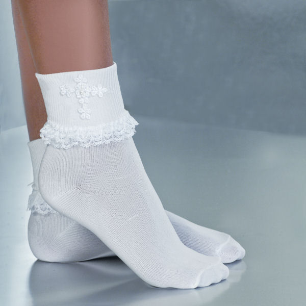 Venise Lace Cross Sock