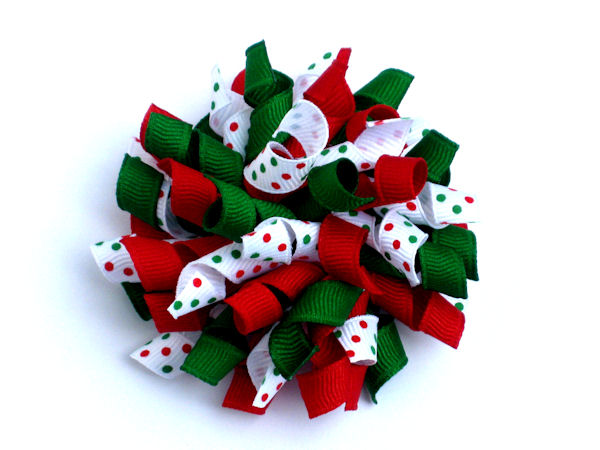 Christmas Korker Hair Bow