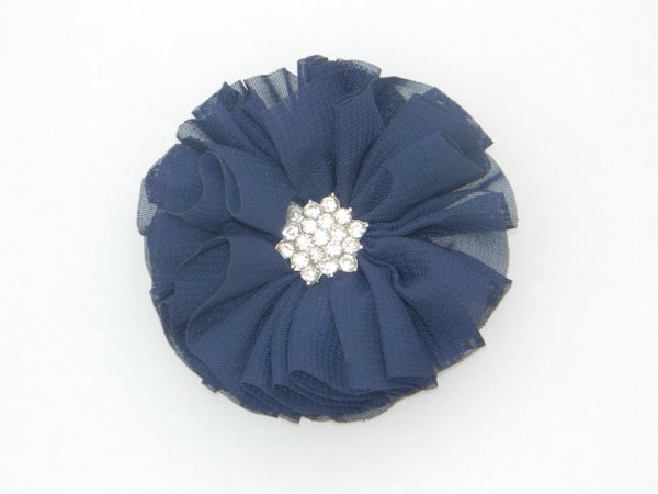 Navy Starburst Flower Hair Clip