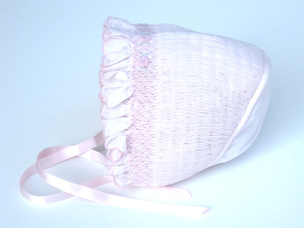 Pink Smocked Bonnet