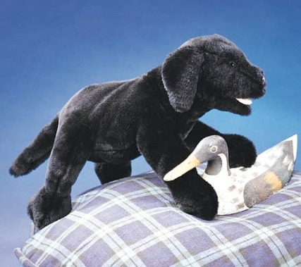 Black Lab Puppy Puppet