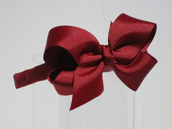 Maroon Bow Headband