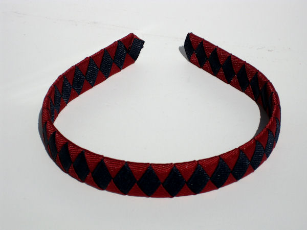 Maroon and Navy Woven Headband
