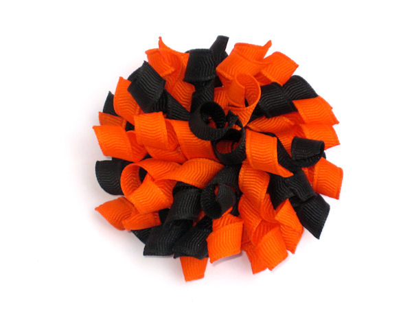 Orange and Black Korker Hair Bow