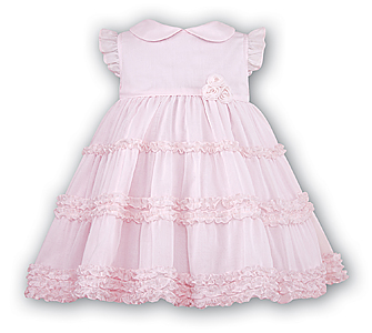 Pink Voile Ruffle Dress