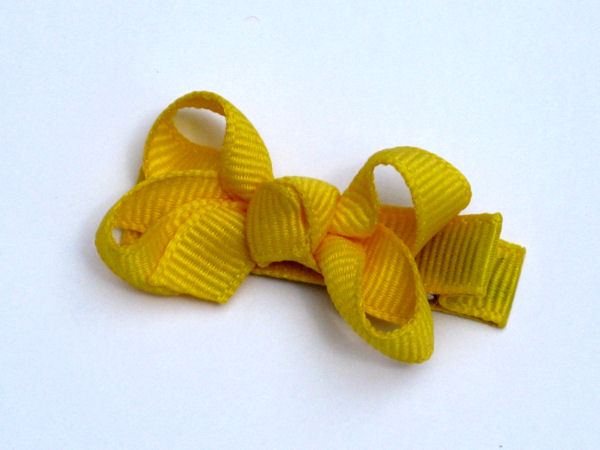Yellow Bitty Hair Bow