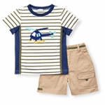 Helicopter Hero Twill Short Set