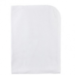 Girl's White Pointelle Sweater Knit Blanket
