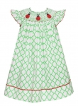 Ladybug Smocked Bishop Dress