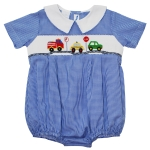 Traffic Smocked Boy's Bubble