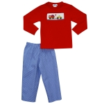 Traffic Smocked Boy's Pant Set