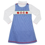 Apple Smocked 2 Piece Set