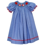 Apple Smocked Bishop Dress