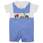 Traffic Smocked Boy's Shortall