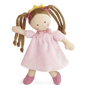 "10"" Little Princess Brunette Doll"