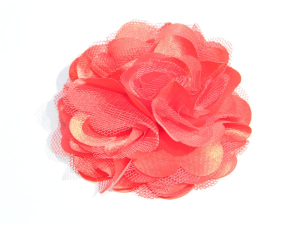 "3"" Red Satin Rosette Hair Clip"