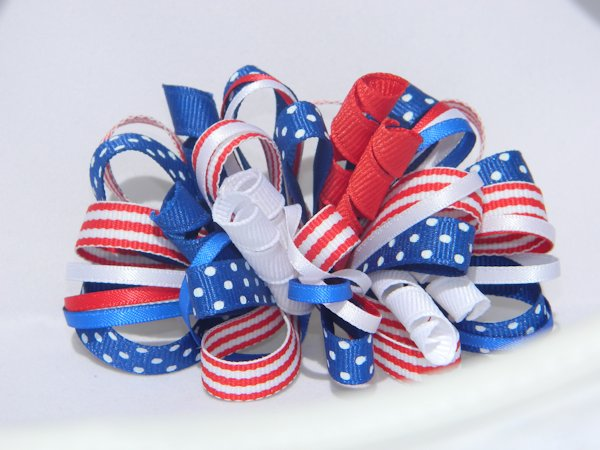 Medium Patriotic Loopy Hair Bow