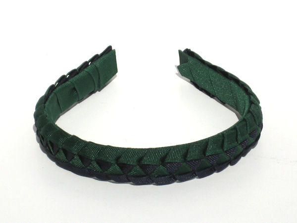 Forest Green and Navy Braided Headband