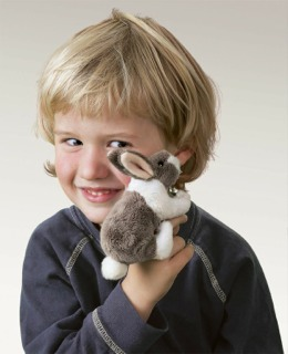 Mini Bunny Rabbit Puppet