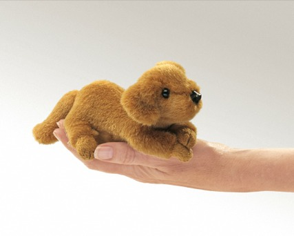 Mini Golden Retriever Puppet