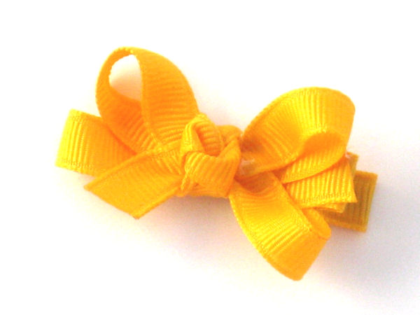 Yellow Gold Bitty Hair Bow